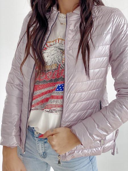 metalická bunda muri ružovo fialova