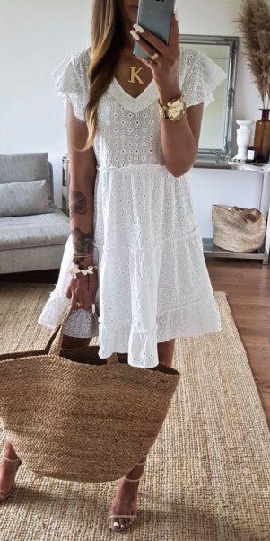 šaty dives biele