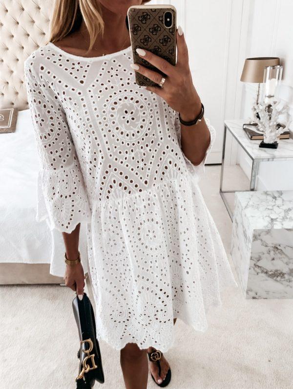 šaty malorca biele