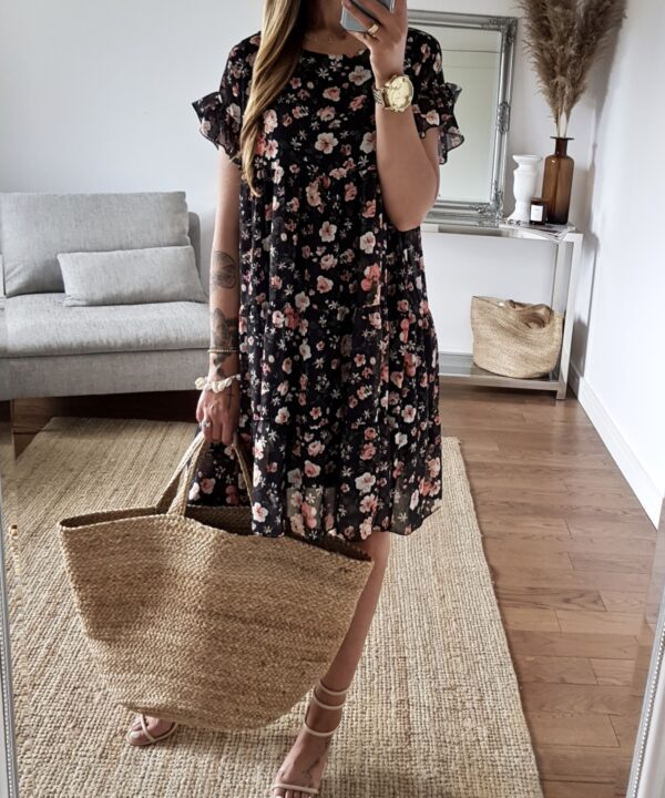 šaty kvetka čierne