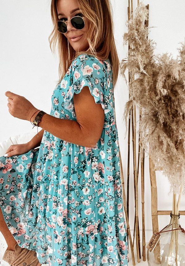 šaty kvetka mint