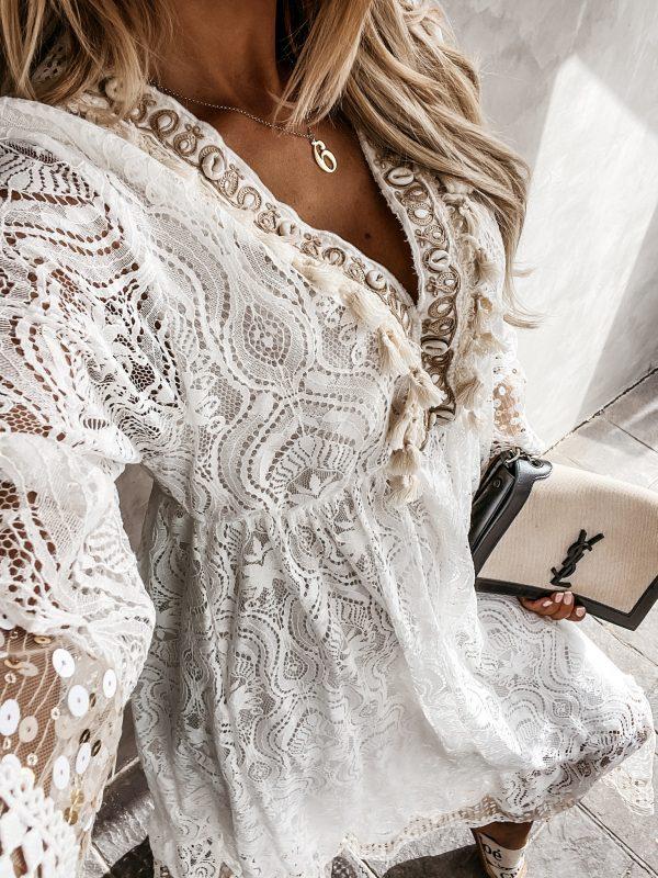 šaty majlo biele