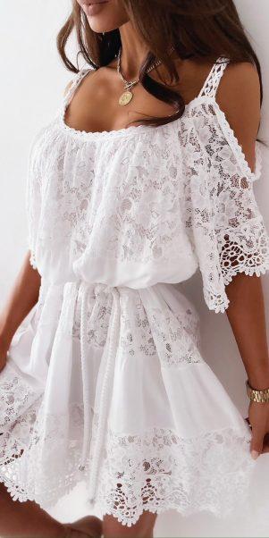 šaty valinka biele