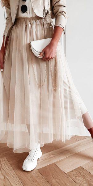 týlova sukňa simenka béžova