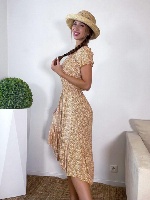 šaty bravia horčicové