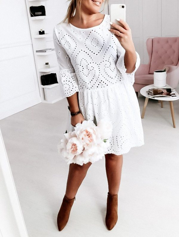 šaty jealy biele