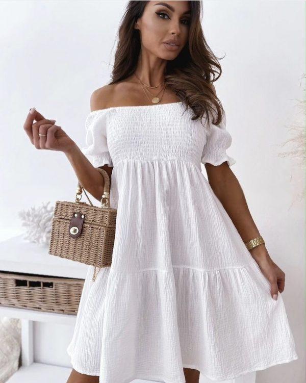 šaty passet biele