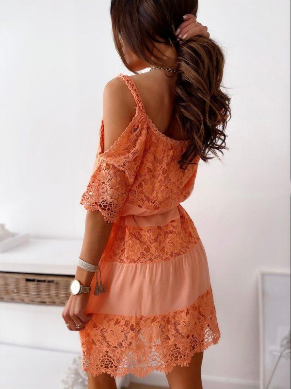 šaty valinka svetlooranžové