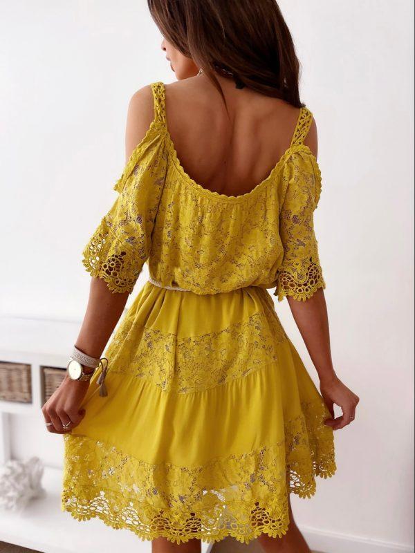 šaty valinka žlté