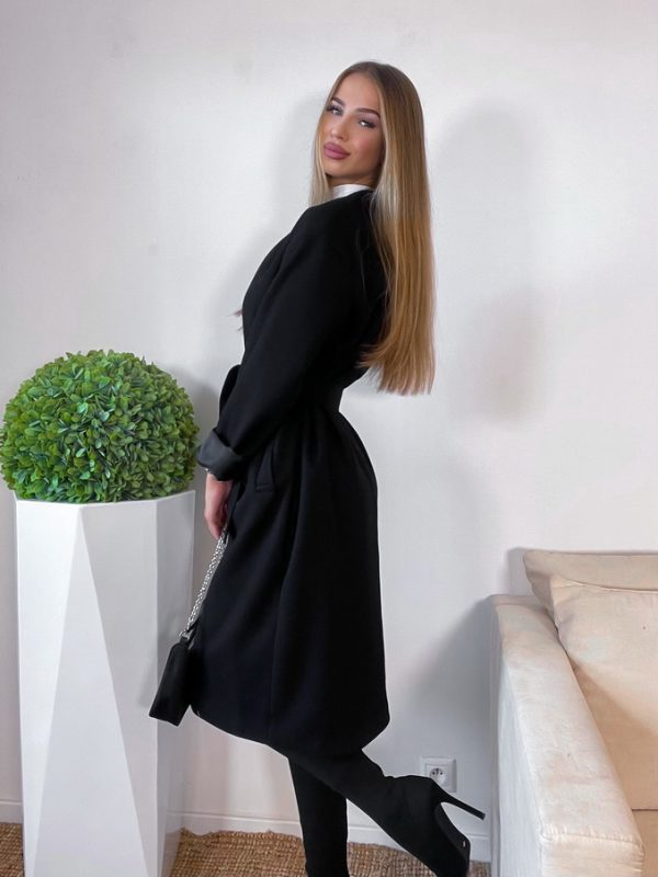 kabát zoanne čierny