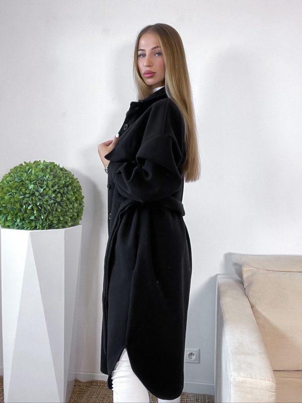 prechodný kabát amberra čierny