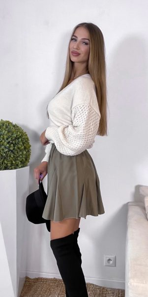 sukňa linear khaki