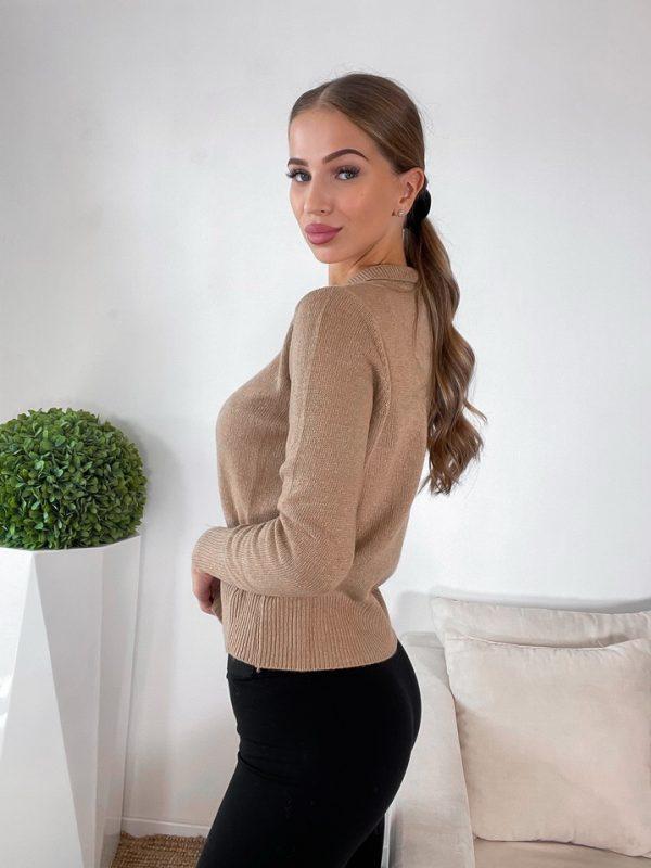 sveter cashmere hnedý