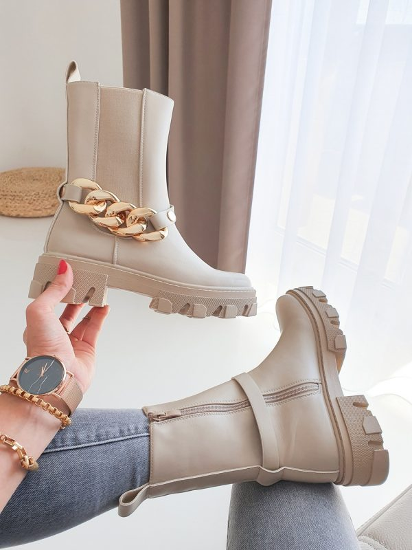 topánky tamay s odnímateľnou retiazkou béžove