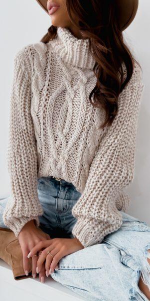 sveter antik béžovy